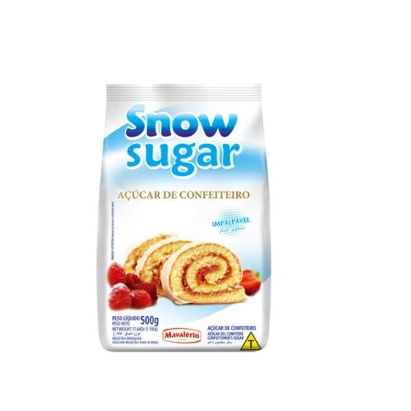 AÇÚCAR DE CONFEITEIRO IMPALPÁVEL SNOW SUGAR 500G MAVALÉRIO