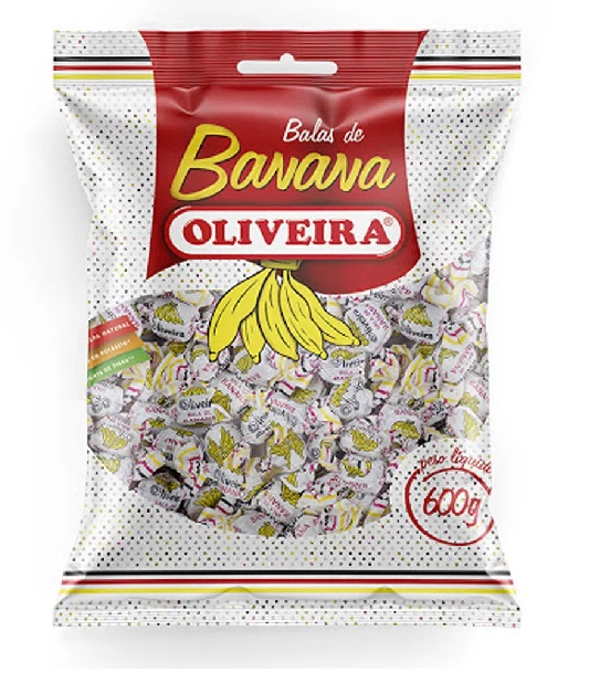 Bala Banana Oliveira 600g