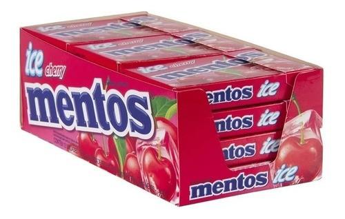 BALA MENTOS SLIM BOX ICE CHERRY CEREJA COM 12 UNIDADES
