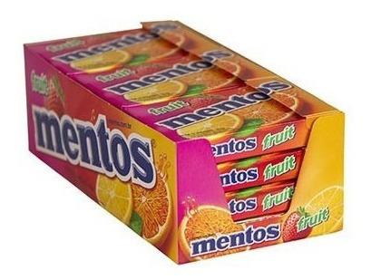 BALA MENTOS SLIM BOX ICE FRUIT COM 12 UNIDADES