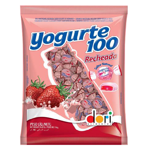 BALA YOGURTE RECHEADA 100 600GR DORI