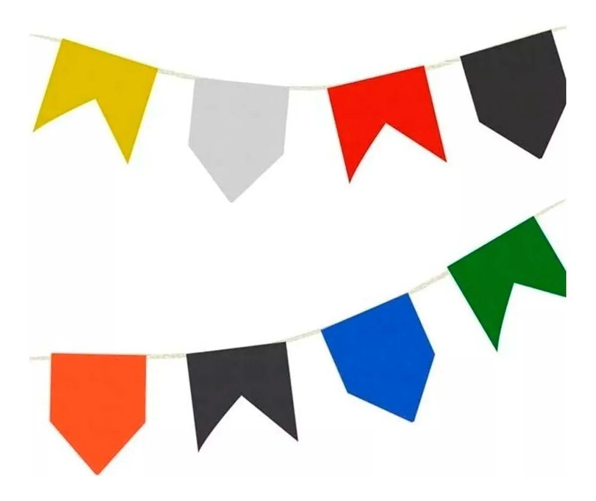 Bandeira Junina Plástica 10 Pacotes Com 10 Metros Cada