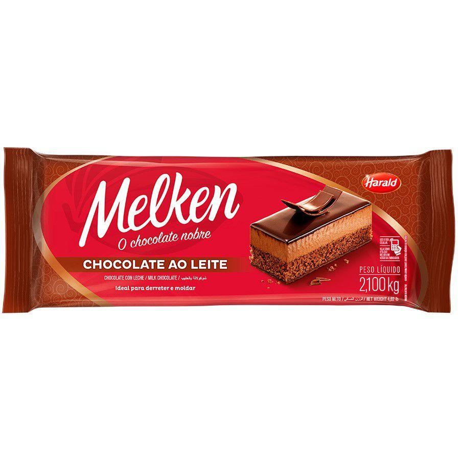 CHOCOLATE AO LEITE MELKEN BARRA 2,1KG HARALD