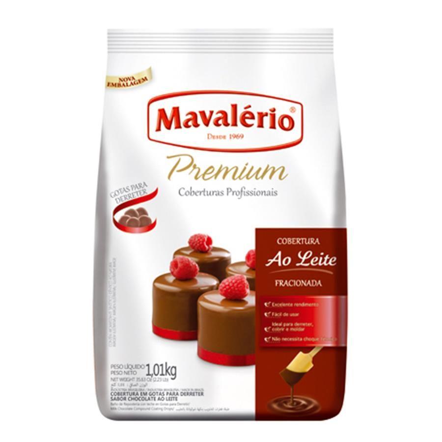 CHOCOLATE EM GOTAS PREMIUM AO LEITE 1,01KG MAVALÉRIO