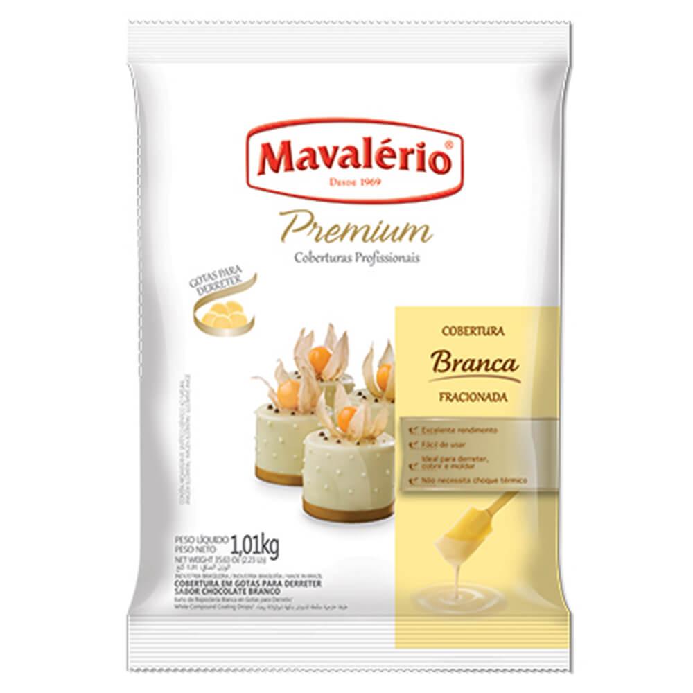 CHOCOLATE EM GOTAS PREMIUM BRANCO 1,01KG MAVALÉRIO