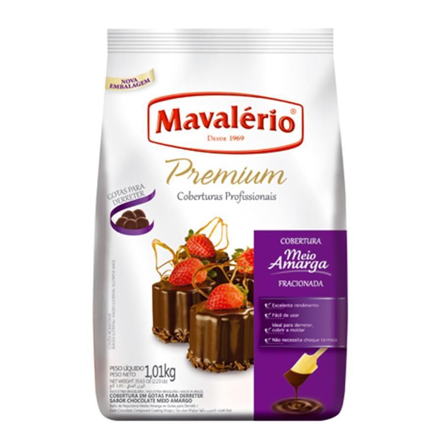 CHOCOLATE EM GOTAS PREMIUM MEIO AMARGO 1,01KG MAVALÉRIO