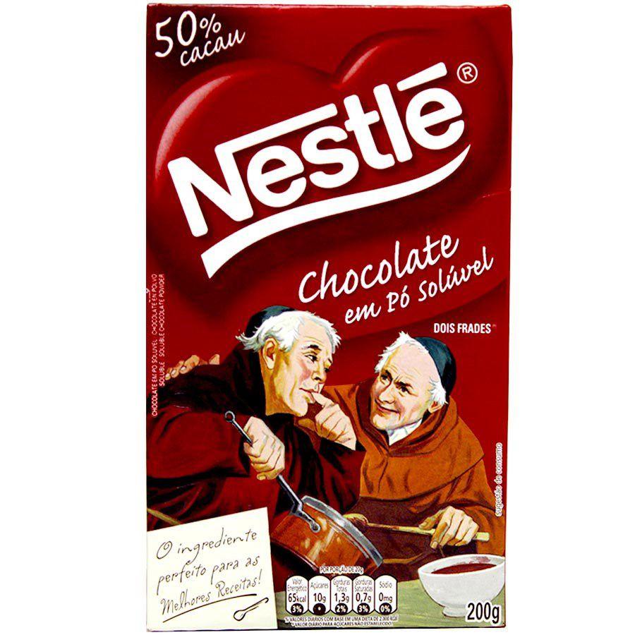 CHOCOLATE EM PÓ SOLÚVEL 50% 200G NESTLÉ