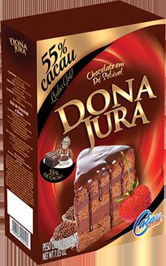 CHOCOLATE EM PÓ SOLÚVEL 55% CACAU 200G DONA JURA CACAU FOODS