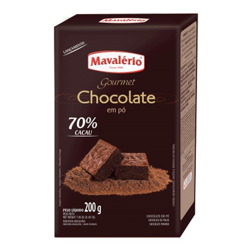 CHOCOLATE EM PÓ SOLÚVEL 70% 200G MAVALÉRIO
