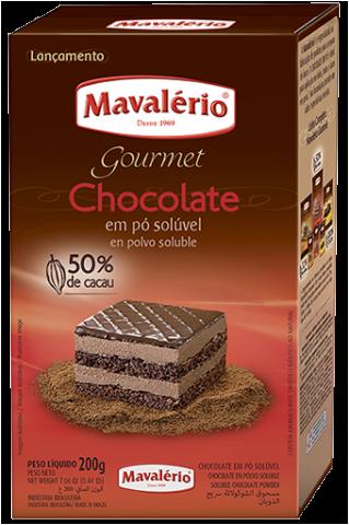 CHOCOLATE  EM PÓ SOLÚVEL GOURMET 50% 200G MAVALÉRIO