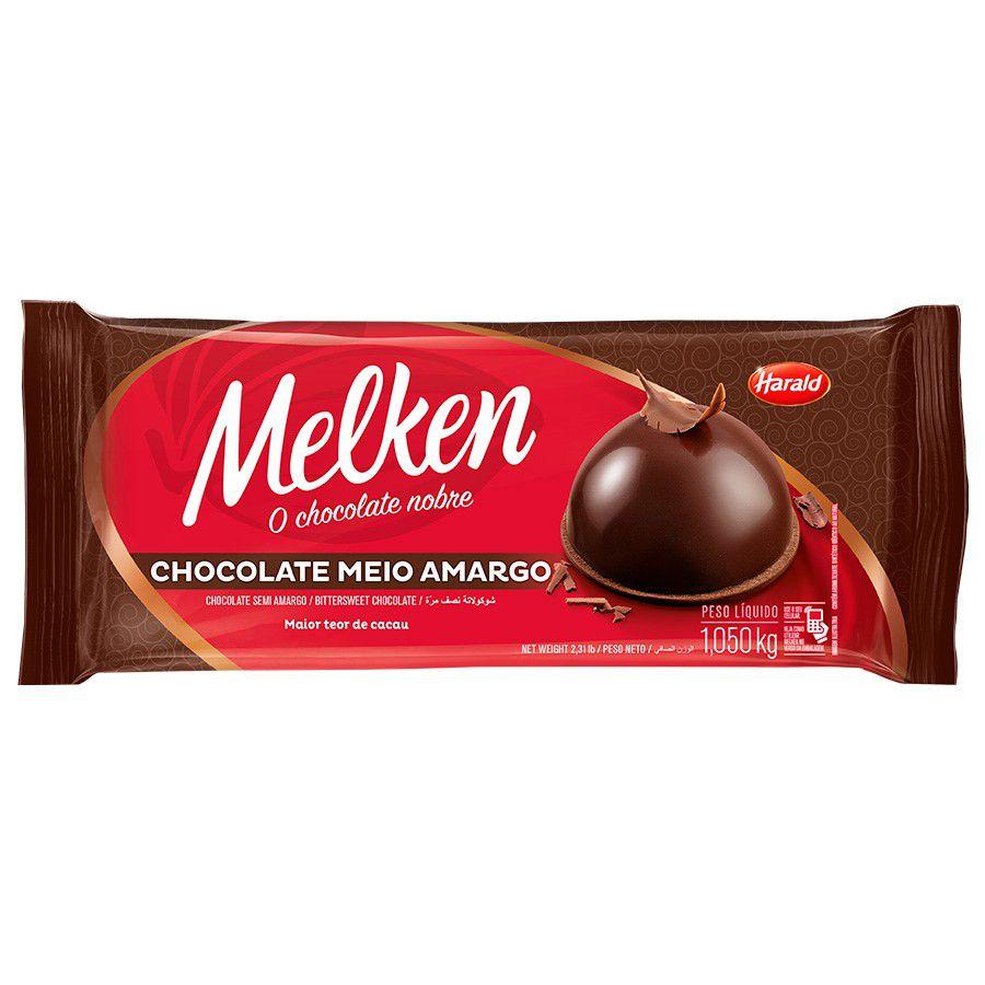 CHOCOLATE MEIO AMARGO MELKEN BARRA 1,05KG HARALD