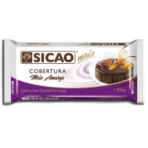 CHOCOLATE MEIO AMARGO SICAO MAIS BARRA 1,01KG - SICAO