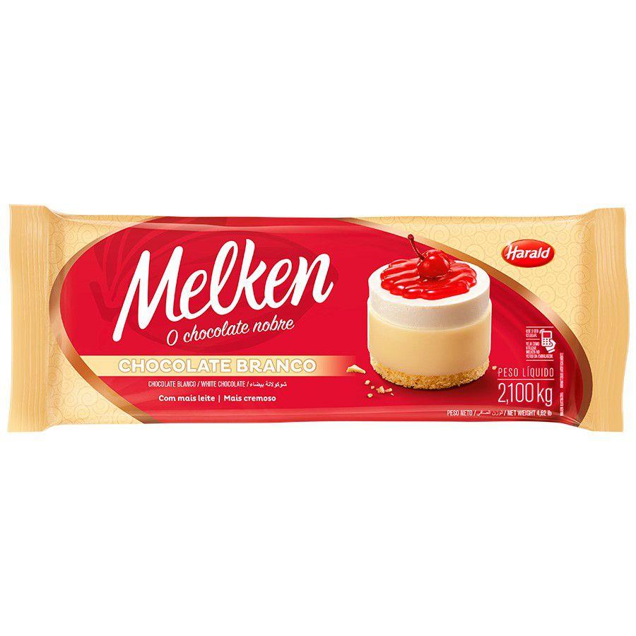 CHOCOLATE MELKEN BRANCO 2.1KG HARALD