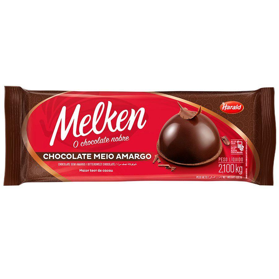 CHOCOLATE MELKEN MEIO AMARGO 2.1KG HARALD