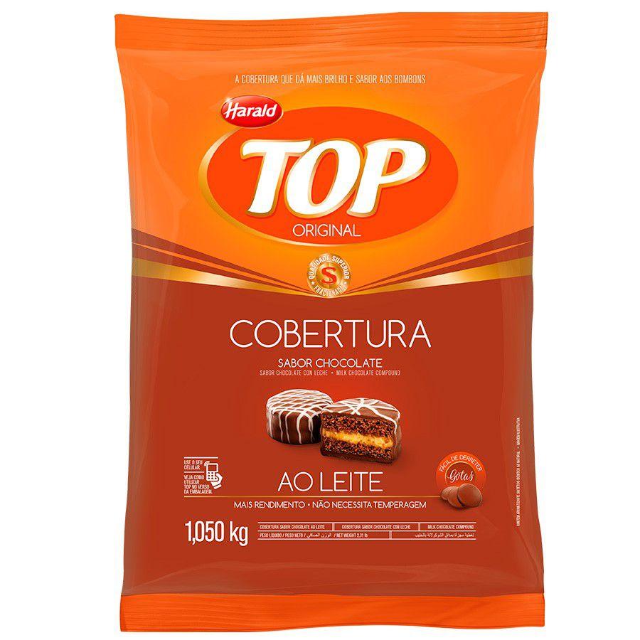 COBERTURA DE CHOCOLATE TOP GOTAS AO LEITE 1,05KG HARALD