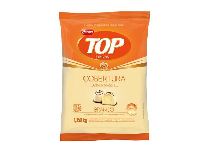 COBERTURA DE CHOCOLATE TOP GOTAS BRANCO 1.050KG HARALD
