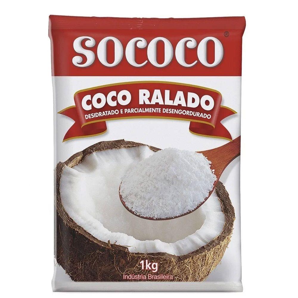COCO RALADO DESIDRATADO 1KG SOCOCO