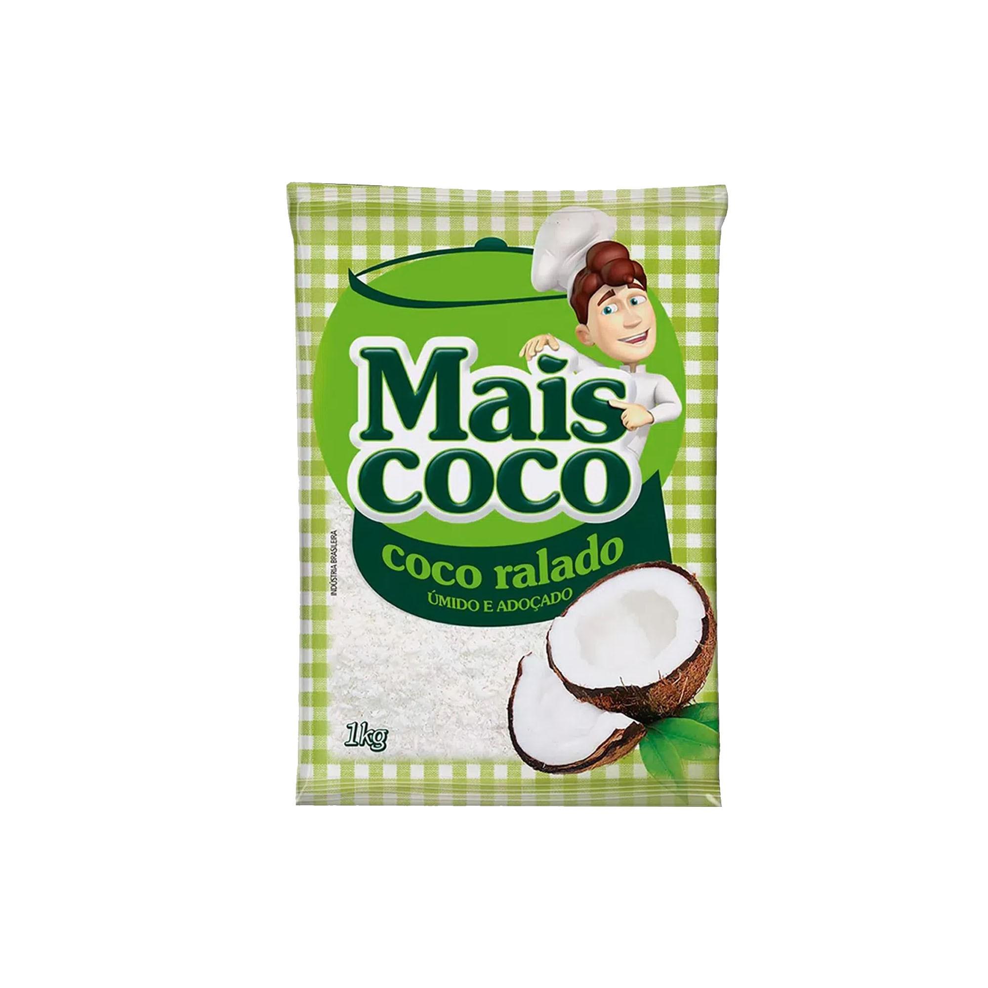 COCO RALADO UMIDO E ADOCADO 1KG MAIS COCO