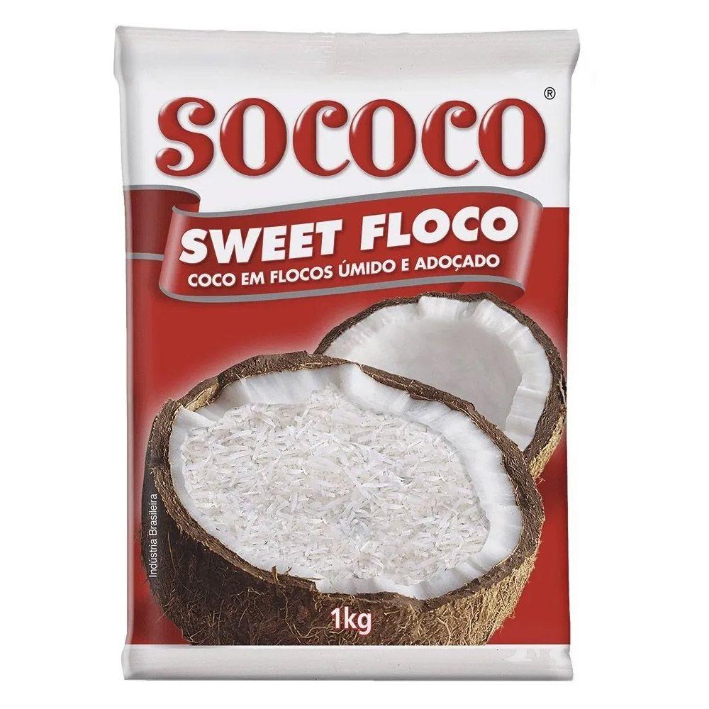 COCO SWEET FLOCO ÚMIDO E ADOÇADO 1KG SOCOCO