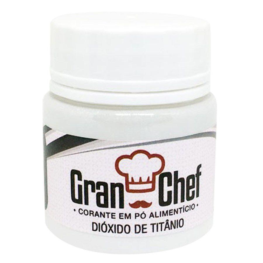 CORANTE EM PÓ DIÓXIDO DE TITÂNIO BRANCO 15G GRAN CHEF