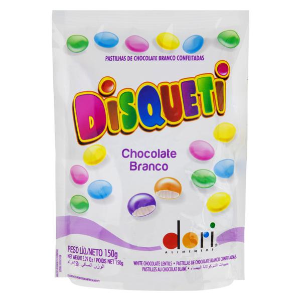 DISQUETI CHOCOLATE BRANCO 150G DORI