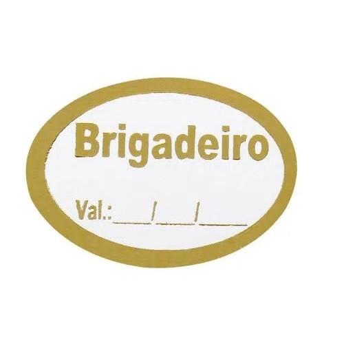 ETIQUETA BRIGADEIRO COM 100 UNIDADES (COD-189) MAGIA ETIQUETAS