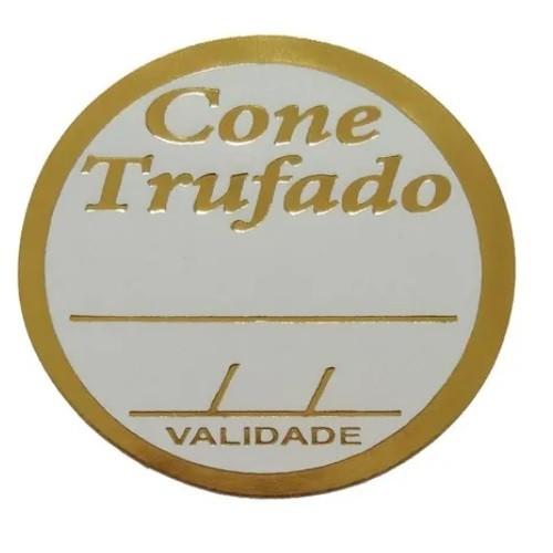 ETIQUETA CONE TRUFADO COM 100 UNIDADES (COD-170) MAGIA ETIQUETAS