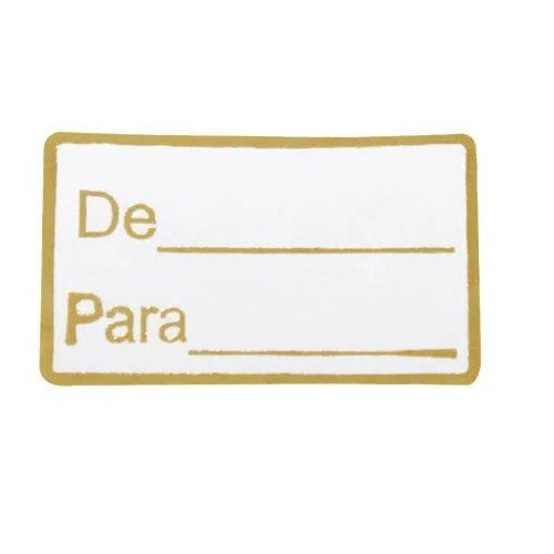 ETIQUETA DE / PARA COM 100 UNIDADES (COD-174) MAGIA ETIQUETAS