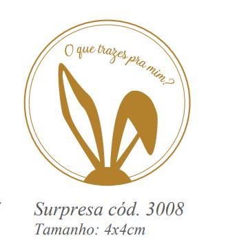 ETIQUETA SURPRESA (COD3008) COM 50 UNIDADES IDEIA