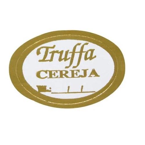 ETIQUETA TRUFFA CEREJA COM 100 UNIDADES (COD-134) MAGIA ETIQUETAS