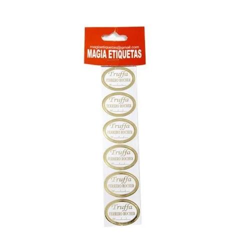 ETIQUETA TRUFFA FERRERO ROCHER COM 100 UNIDADES (COD-153/01) MAGIA ETIQUETAS