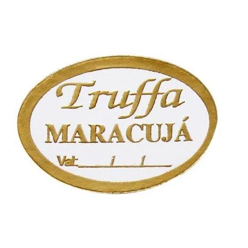 ETIQUETA TRUFFA MARACUJÁ COM 100 UNIDADES (COD-132/01) MAGIA ETIQUETAS