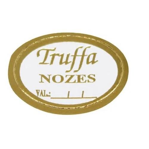 ETIQUETA TRUFFA NOZES COM 100 UNIDADES (COD-123) MAGIA ETIQUETAS