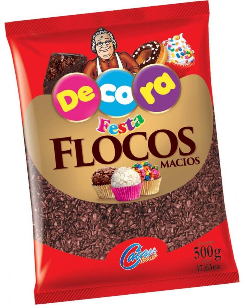 FLOCOS MACIO 500G DECORA CACAU FOODS