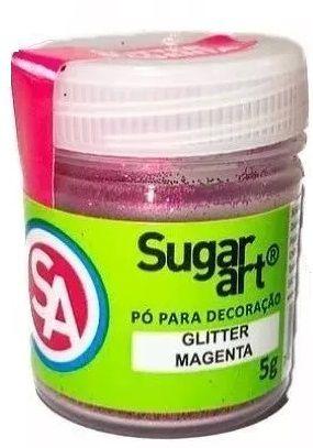 GLITTER PARA DECORAÇÃO 5G SUGAR ART - Magenta