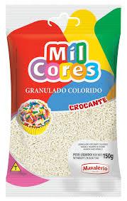 GRANULADO MIL CORES 500G COLORIDO MAVALÉRIO - Branco
