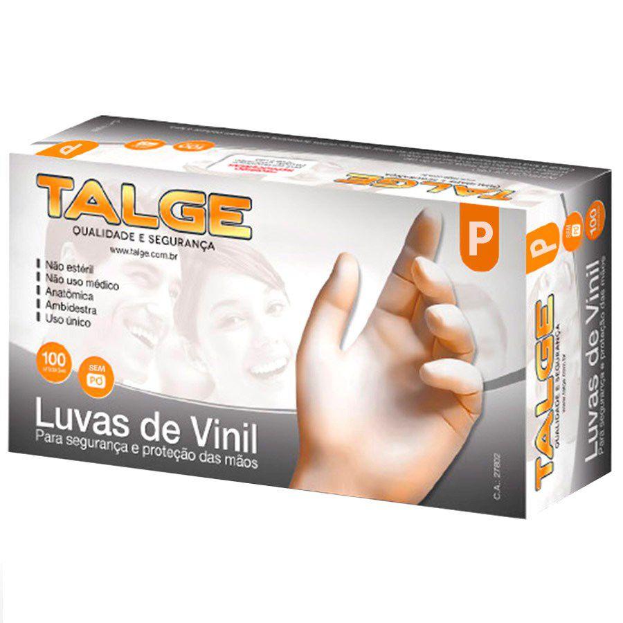 LUVAS DE VINIL COM PÓ TAMANHO G COM 100 UNIDADES BOMPACK