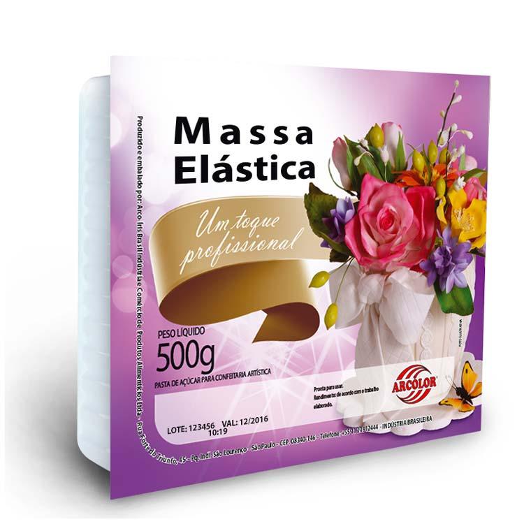 MASSA ELÁSTICA BRANCA 500G ARCOLOR