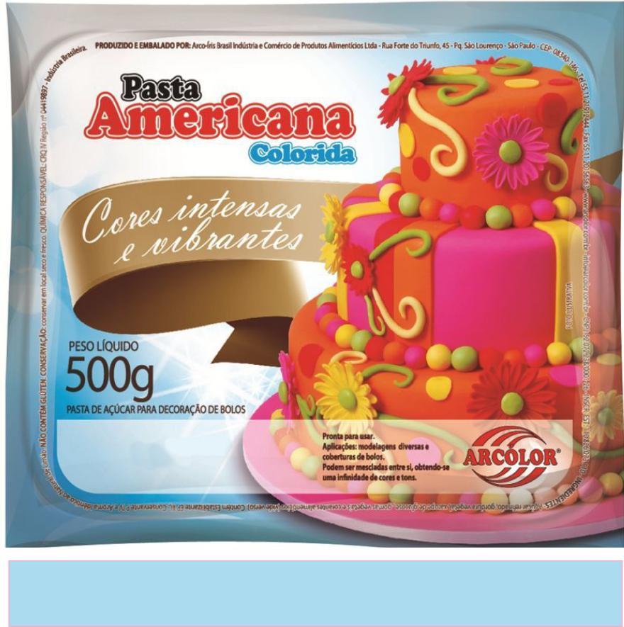PASTA AMERICANA AZUL BEBÊ ARCOLOR 500G