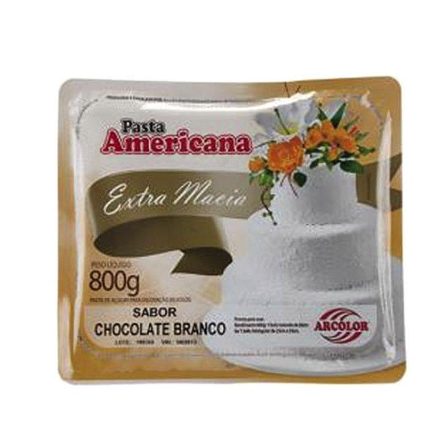 PASTA AMERICANA CHOCOLATE BRANCO 800G ARCOLOR