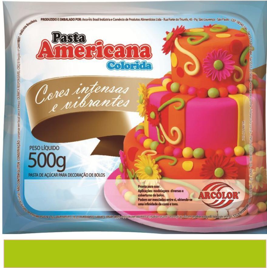 PASTA AMERICANA VERDE LIMÃO ARCOLOR 500G
