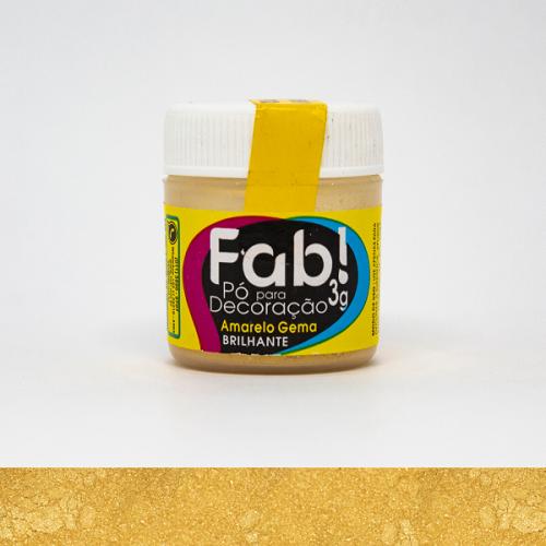 Pó para decoração  Amarelo Gema Fab 3G
