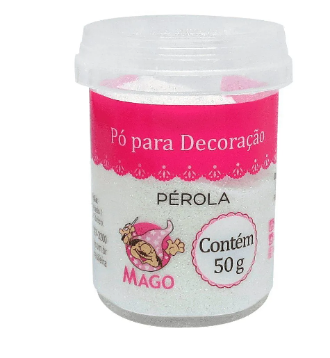 PÓ PARA DECORAÇÃO PÉROLA 50G MAGO