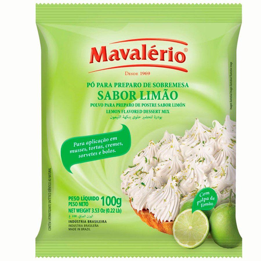 PÓ PARA PREPARO DE SOBREMESA LIMÃO 100G MAVALÉRIO