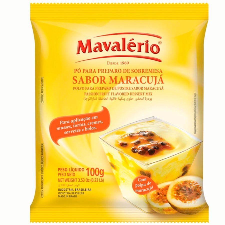 PÓ PARA PREPARO DE SOBREMESA MARACUJÁ 100G MAVALÉRIO