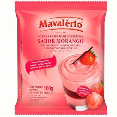 PÓ PARA PREPARO DE SOBREMESA MORANGO 100G MAVALÉRIO