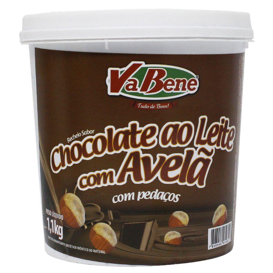 RECHEIO DE CHOCOLATE AO LEITE COM AVELÃ 1,01KG VABENE