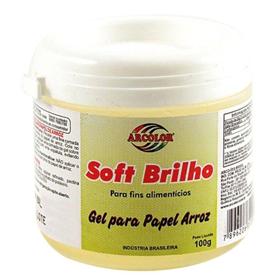 SOFT BRILHO PARA PAPEL ARROZ 100GR ARCOLOR