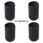 KIT 4 VASOS AIR POT 7,57 LITROS