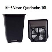 KIT 6 VASOS 10L QUADRADO ANTI-STRESS
